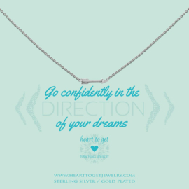 Heart to Get - S Arrow Silver Ketting