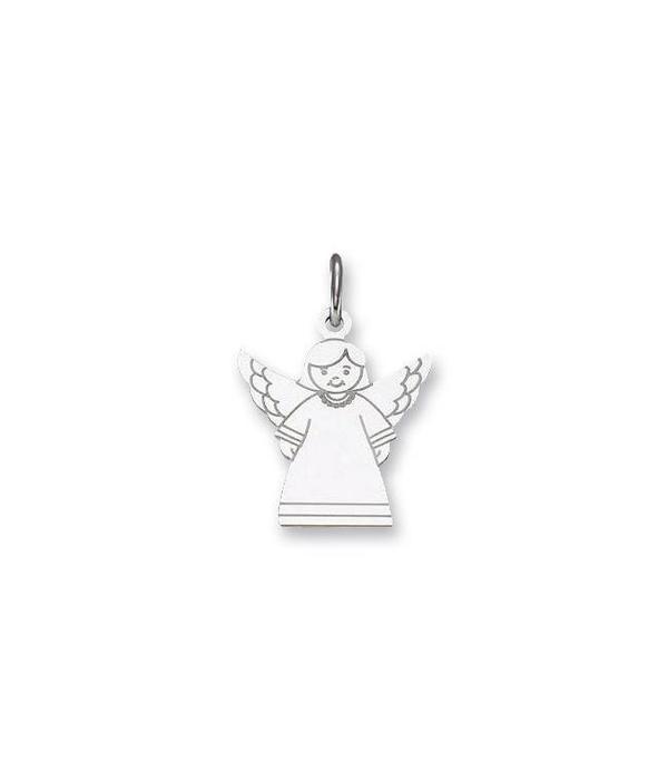 hanger - zilver - engel - 19 x 15 mm