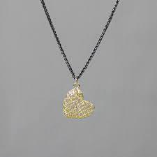 Collier zilver oxy + 3D hanger G14K hart groot
