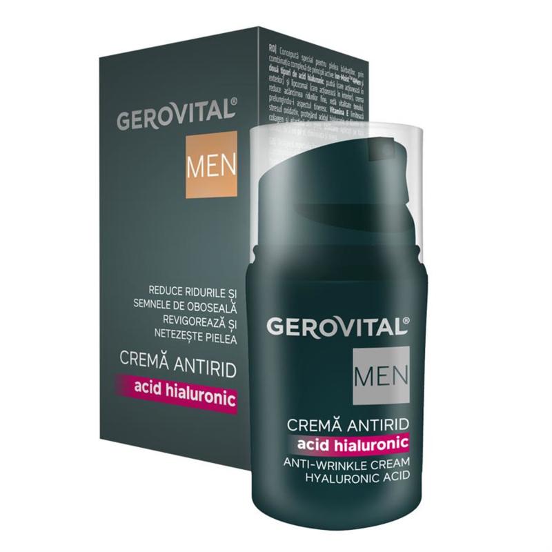 Gerovital Men Anti-rimpelcrème met hyaluronzuur 30ml