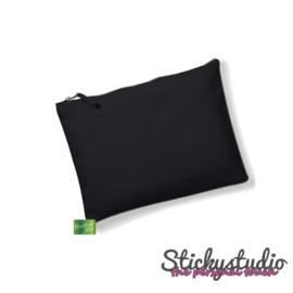 Accessoire zakje zwart - zonder print