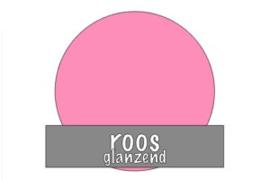Stickervel 30 cm x 50 cm : Roos (glanzend)