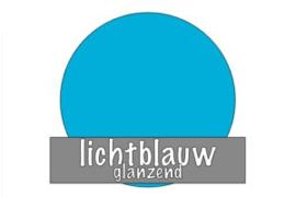 Vinyl: lichtblauw - glanzend