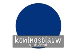 Vinyl: koningsblauw - glanzend