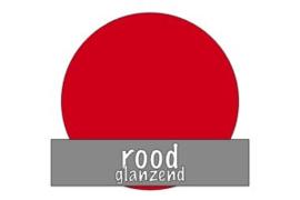 Vinyl: rood - glanzend