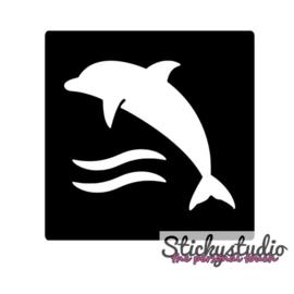 Glittertattoo: Dolfijn
