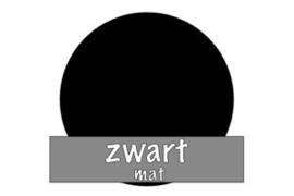 Vinyl: zwart - mat