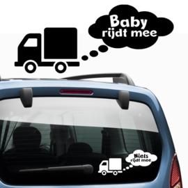 Baby aan boord: Vrachtwagen