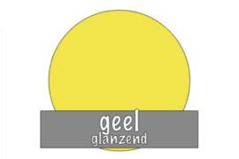 Vinyl: geel - glanzend
