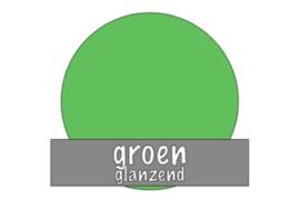 Vinyl: groen - glanzend