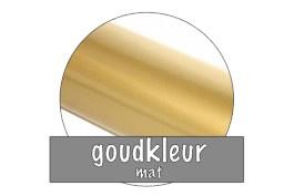 Stickervel 30 cm x 50 cm : Goudkleur (mat)