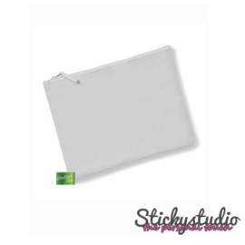 Accessoire zakje lichtgrijs - zonder print