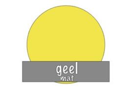 Vinyl: geel - mat