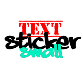 Sticker met vrije tekst - Small (tot 150mm)