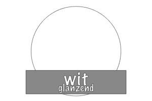 Vinyl: wit - glanzend