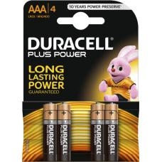Duracell plus AAA Batterijen (MN 2400) AAA LR 03 blister 4 stuks