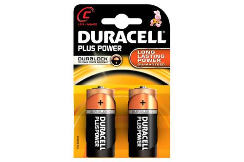 Duracell plus Batterijen (MN 1400) C LR 14 blister 2 stuks