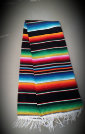 Mexican Blanket Black 213 cm x155 cm