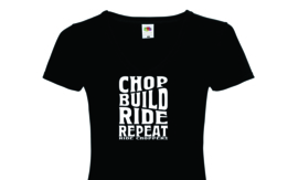 Ride Choppers Chop, Build, Ride Repeat Ladies V-Neck