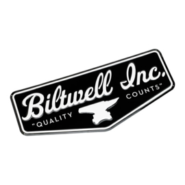 "Biltwell Sign Black/White 26,4"" x 11,5"" (67x29.5cm)"