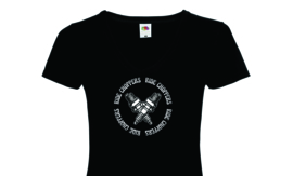 Ride Choppers Sparkplugs Ladies V-Neck
