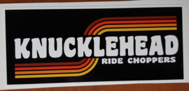 Knucklehead Sticker (12x5cm)