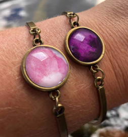 Armband Marble paars