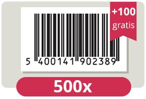 600 officieel erkende EAN Codes