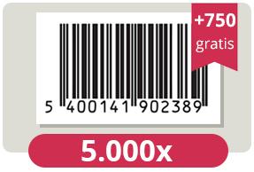 5.750 officieel erkende EAN Codes