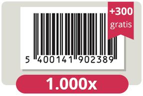 1.300 officieel erkende EAN Codes