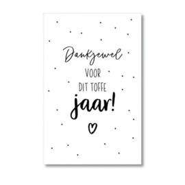 Mini-kaart | Dankjewel voor dit toffe jaar!