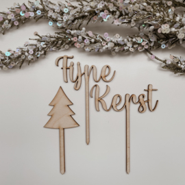 Kerst prikkers | Fijne Kerst | Set van 3