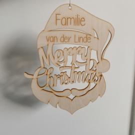 Kerstman Merry Christmas met naam