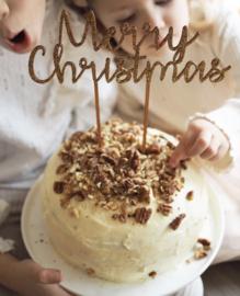 Taart topper Merry Christmas