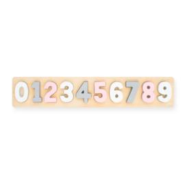 Jollein | Puzzel Cijfers roze/wit