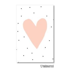 Mini kaart | Roze hart