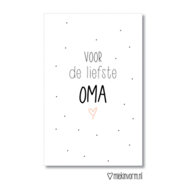 Mini kaart | voor de liefste OMA