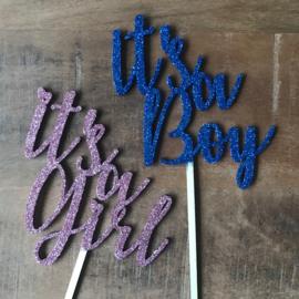 Taart topper Boy / Girl