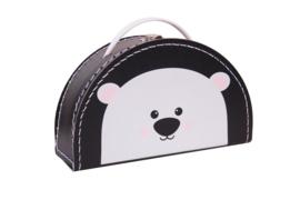 Koffertje ijsbeer zwart