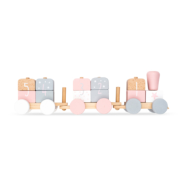 Jollein | Speelgoedtrein wit/roze