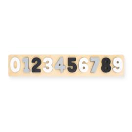 Jollein | Puzzel Cijfers grijs/wit