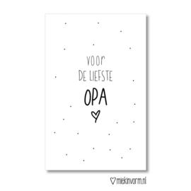 Mini kaart | voor de liefste OPA