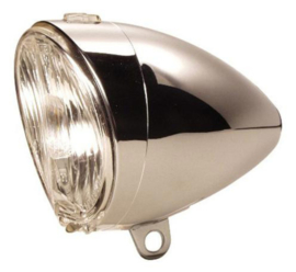 Koplamp Axa 605 Holland  PVC Dynamo Chroom
