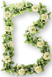 Bloemenslinger Basil Flower Garland  roos Wit