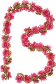 Bloemenslinger Basil Flower Garland  Met Clip Roze