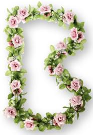 Bloemenslinger Basil Flower Garland  Roos Roze