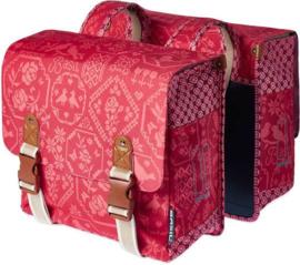 Dubbele Fietstas Basil Boheme  Vintage Red 35 Liter