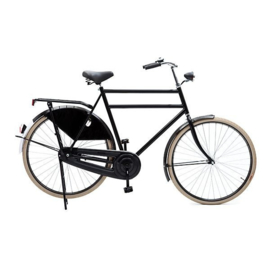 Opafiets style klassieke retro fiets 65cm