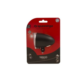 Koplamp Spanninga Trendo XDO voor dynamo met kabel zwart 10 lux