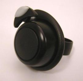 Fietsbel Widek Soft Touch  Zwart Mini Zwart